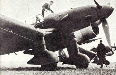 Пикирующий бомбардировщик Юнкерс Ju 87